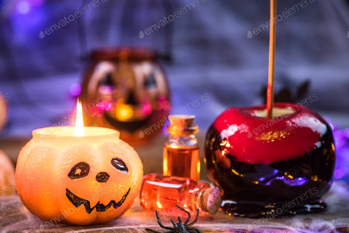 Creative candy apples, Halloween party food