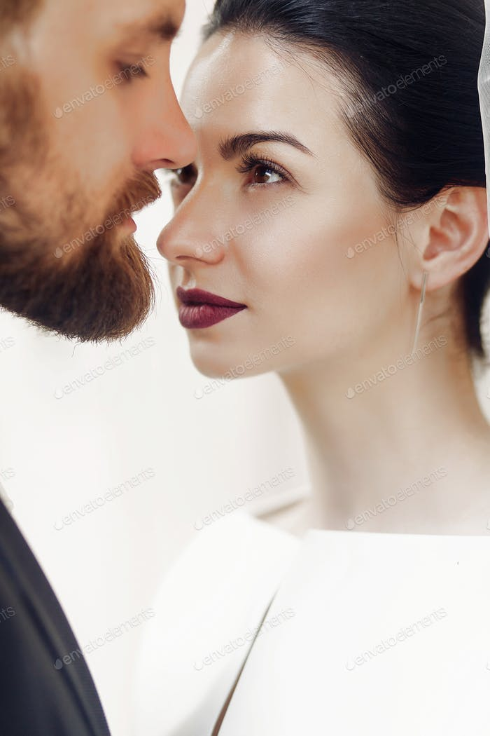 Элегантные великолепные невесты мягко и стильные портреты жениха