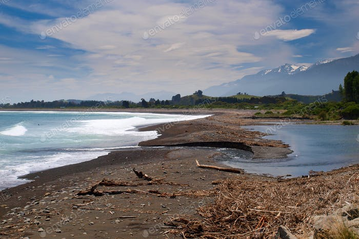 kaikoura coast landscape