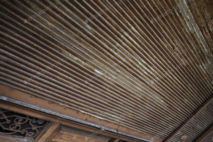 Rusty iron curtain