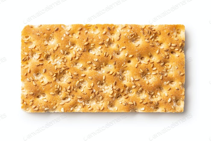 Knackebrot. Wholegrain crispbread with sesame seed.