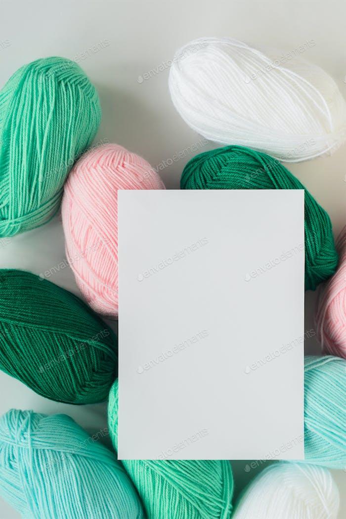 acrylic pastel colored wool yarn thread skeins