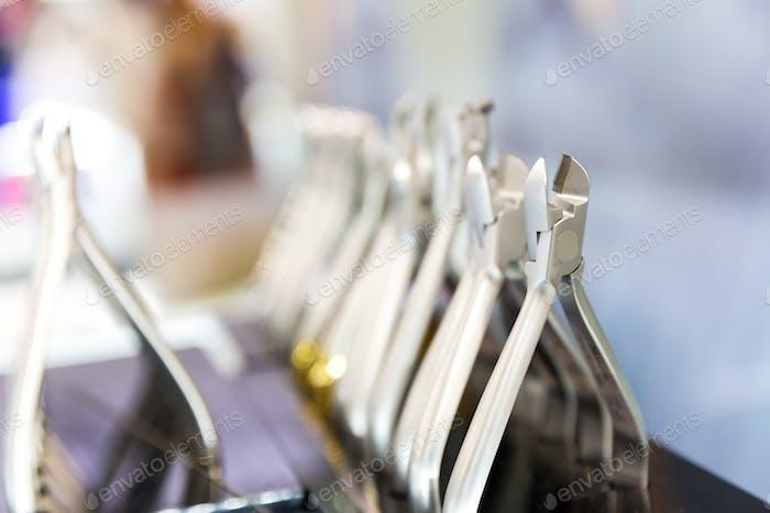 Medicine equipment, dental devices macro view
