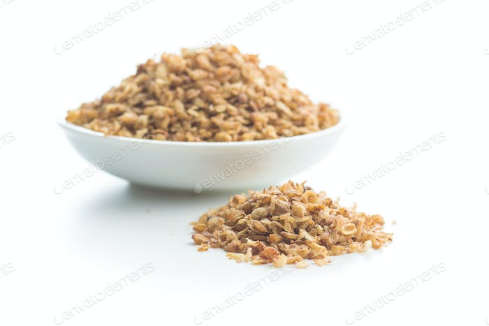 Healthy buckwheat flakes.
