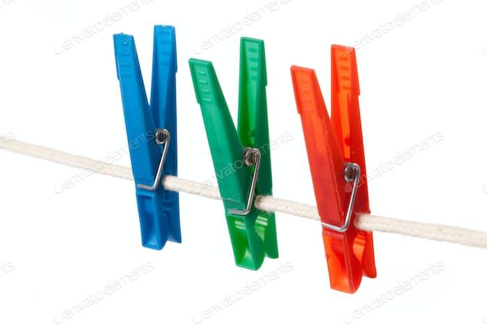 Farbe Wäscheklammern