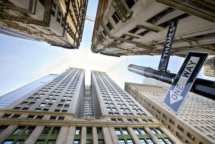 Manhattan looking up