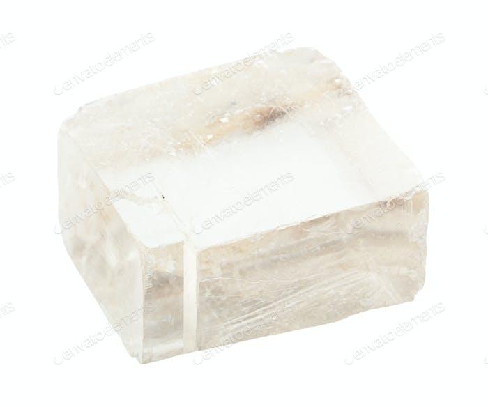 unpolierter, transparenter Islandspat Calcite Gestein