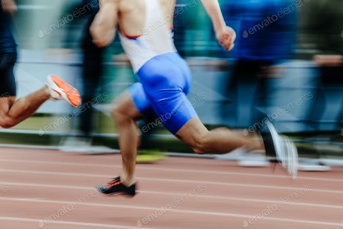 blurred motion man runners sprinters