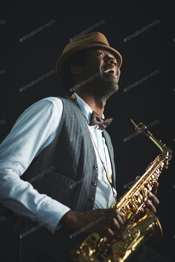 Joyful jazz man
