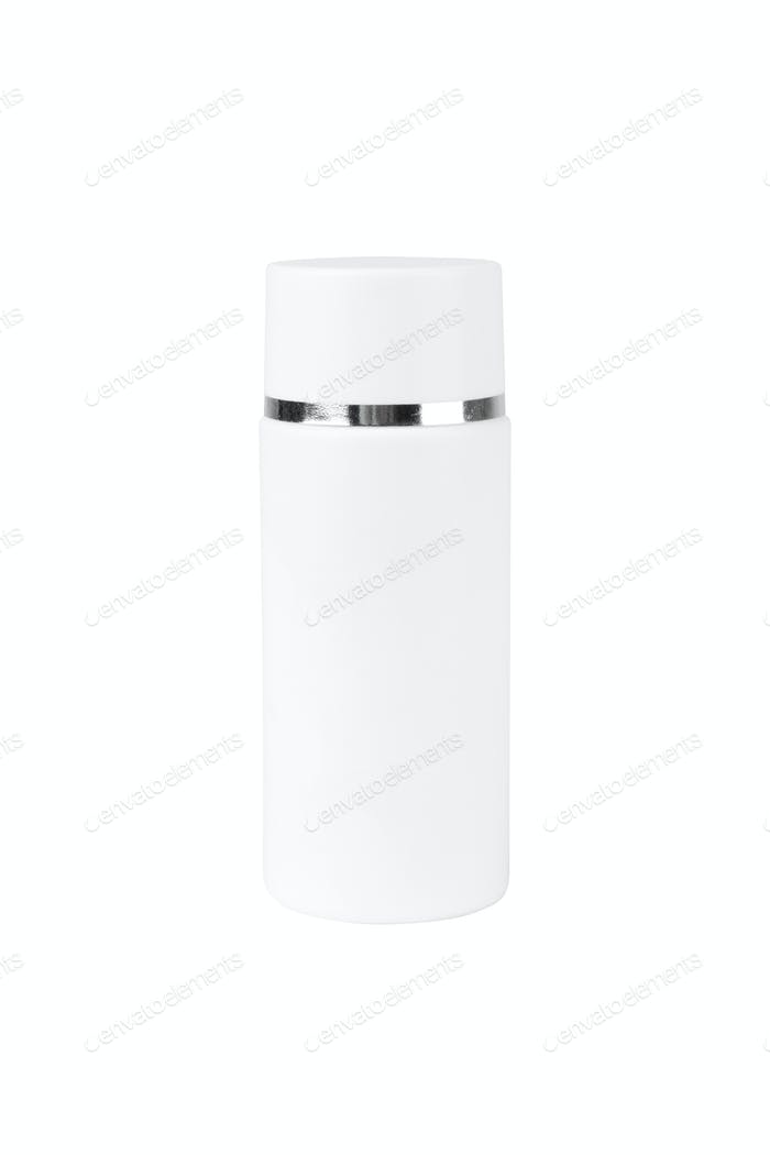 Blank Plastic Bottle On White Background