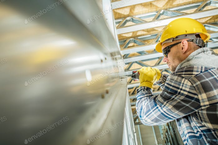 Steel Frame Contractor Worker