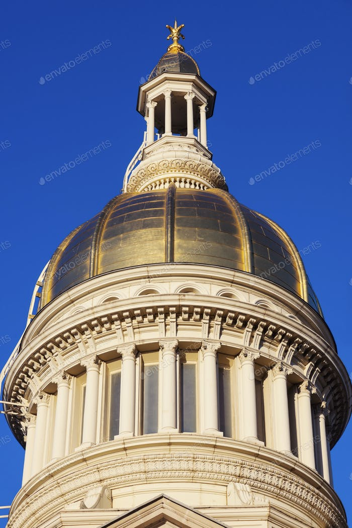 Trenton - dome of State Capitol Building
