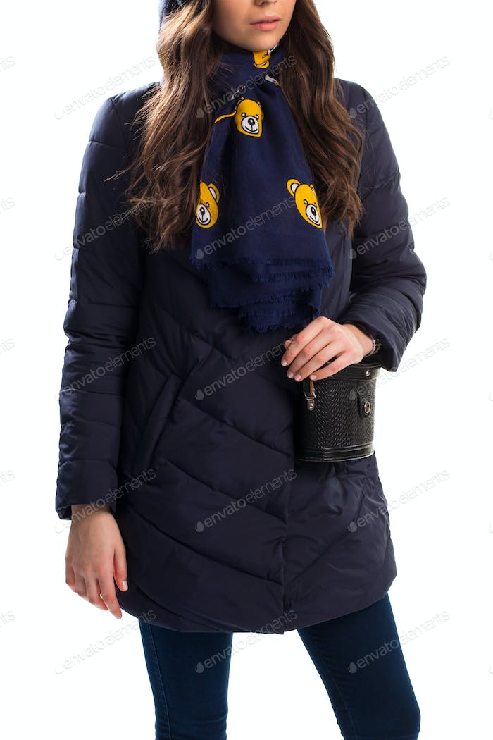 Young woman in down jacket