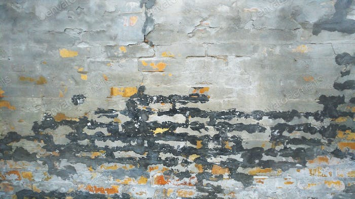 Weathered Old Ruined Brick Wall Background