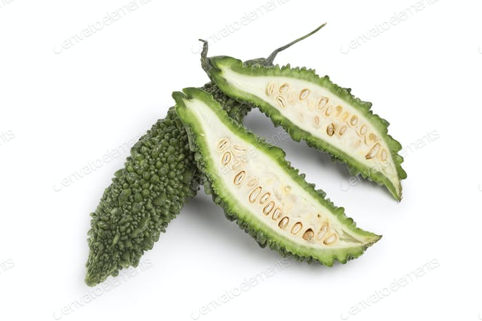 Whole and partial fresh bitter melon