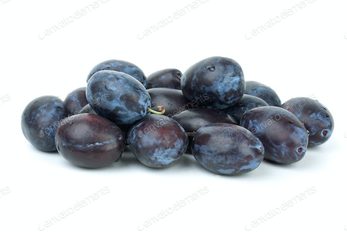 Pile of blue plums