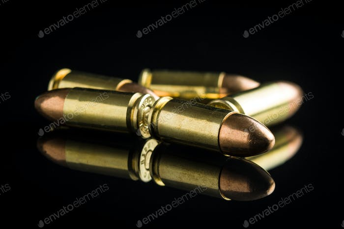 9mm pistol bullets.