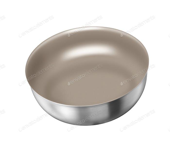 bandeja de acero aislado