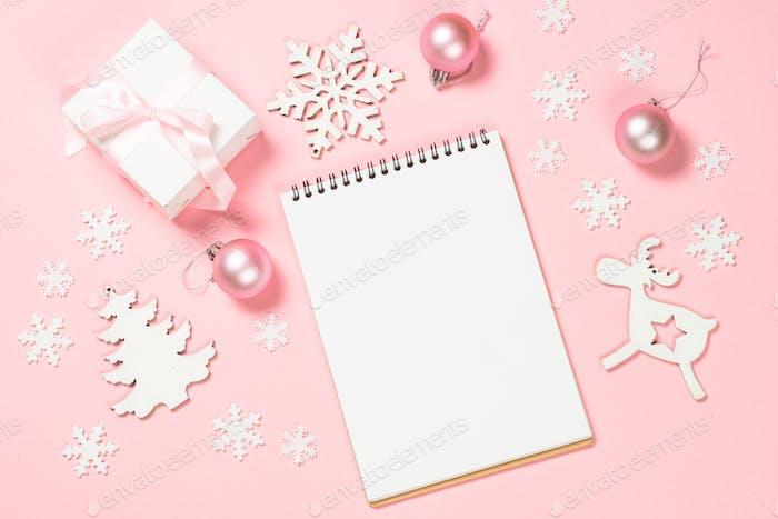 Weihnachten Ziele, Pläne, Auflösung auf rosa