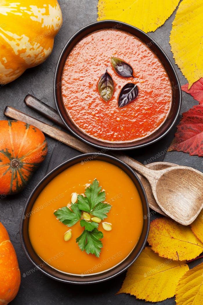 Tomato and pumpkin soup