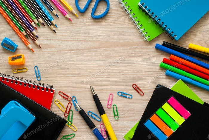School and office stationery.