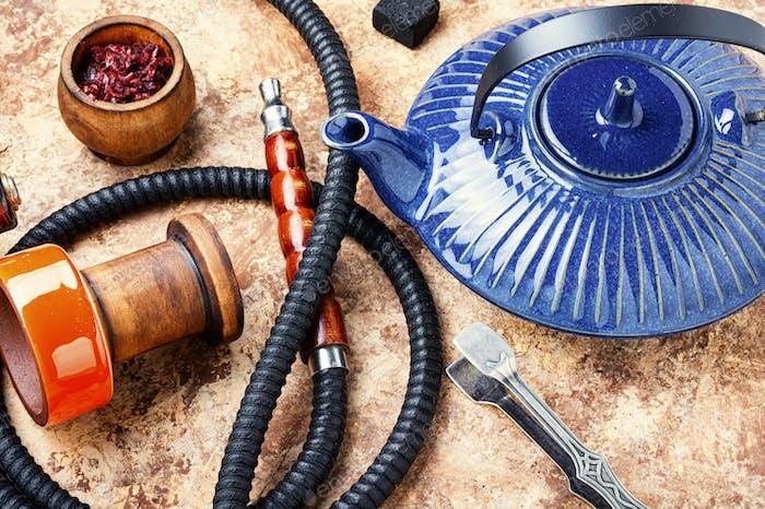 Shisha hookah with teapot