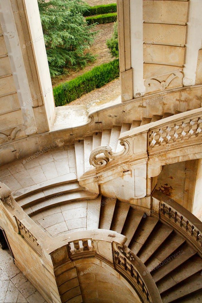 Stairs, Saint Lawrence Charterhouse Monastery in Padula
