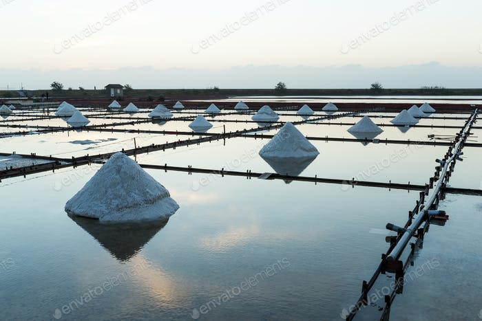 Salz in Meersalzfarm