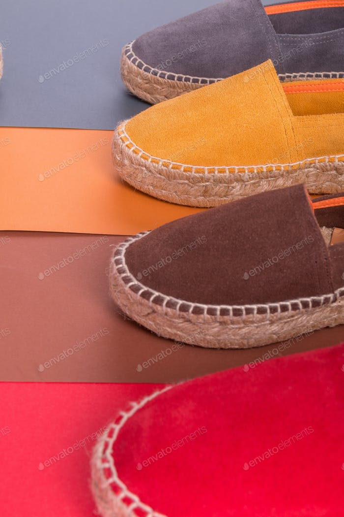 Four pair of espadrilles