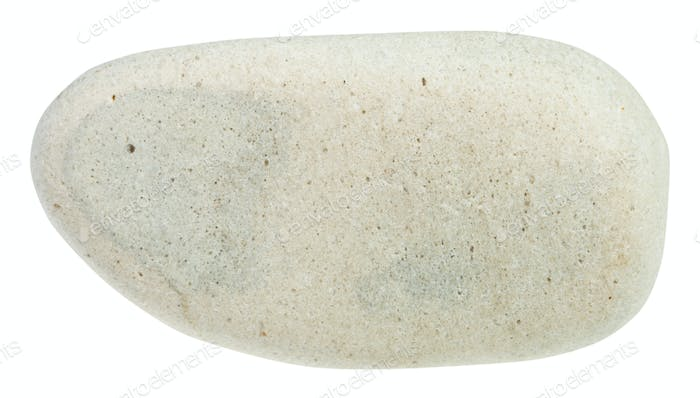 pebble of limestone mineral isolated