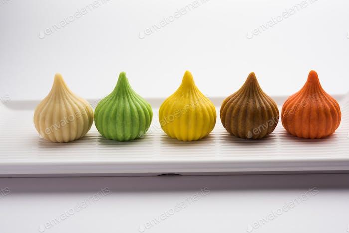 Modak ist ein indischer süßer Popularität in den Bundesstaaten Maharashtra, Goa & in den Regionen Konkan in Indien