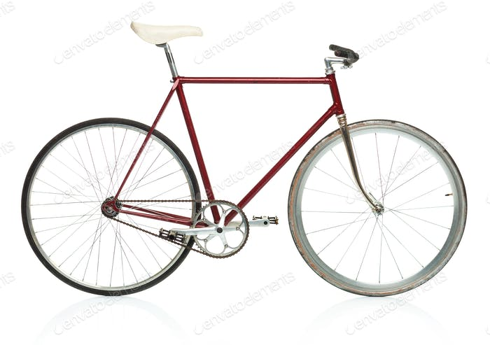 Stilvolles Hipster Fahrrad isoliert auf weiß