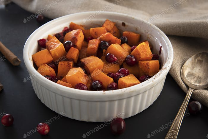 Butternut Squash with Cranberries