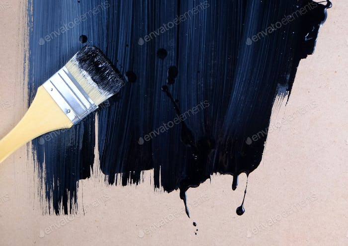 Paint on the wooden board