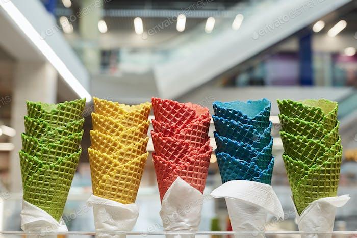 Ice Cream Cones in Mall
