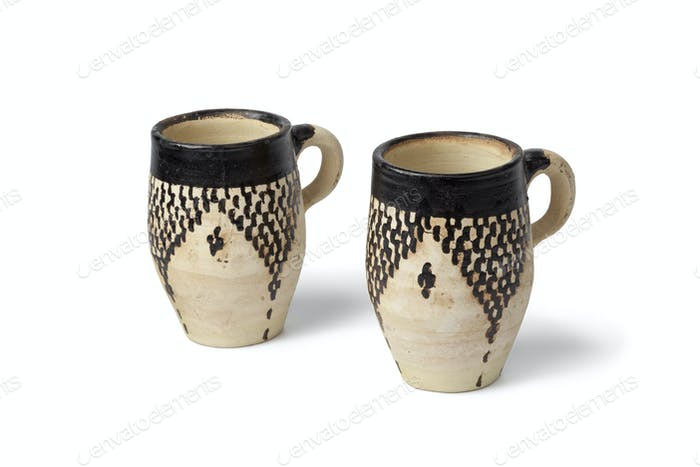Clay Moroccan water cups
