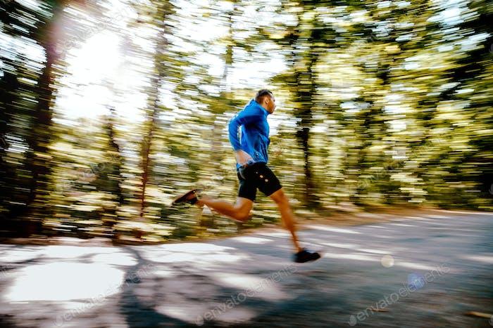 fast running man