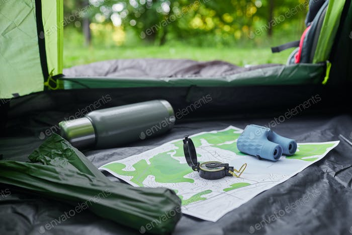 Empty Camping Tent