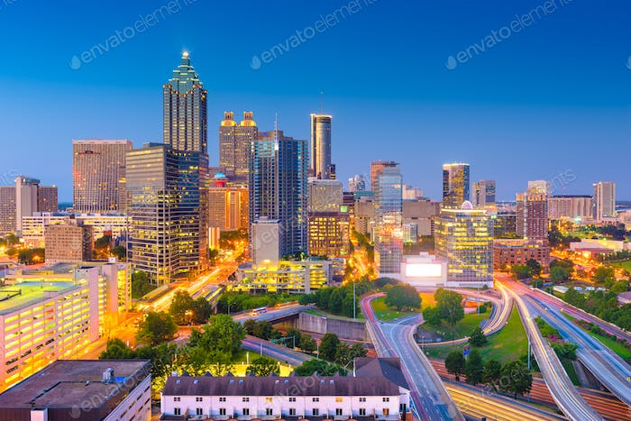 Atlanta, Georgia, USA Downtown Cityscape