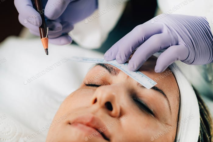 Microblading Eyebrows, Semi-permanent Makeup Procedure