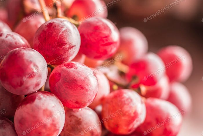 The grapes of the picture blurred