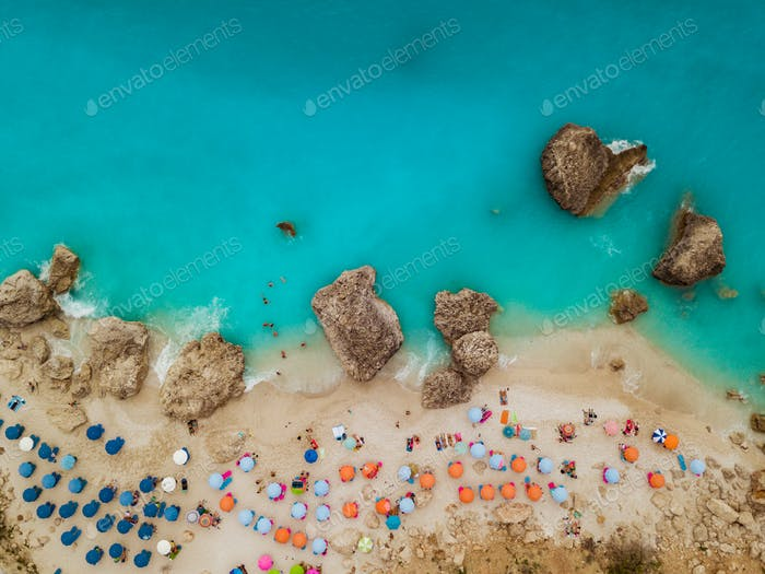Top View Of A Sea Beach