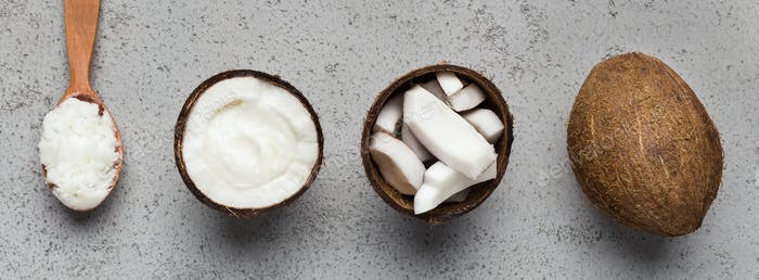 Organic coconut concept