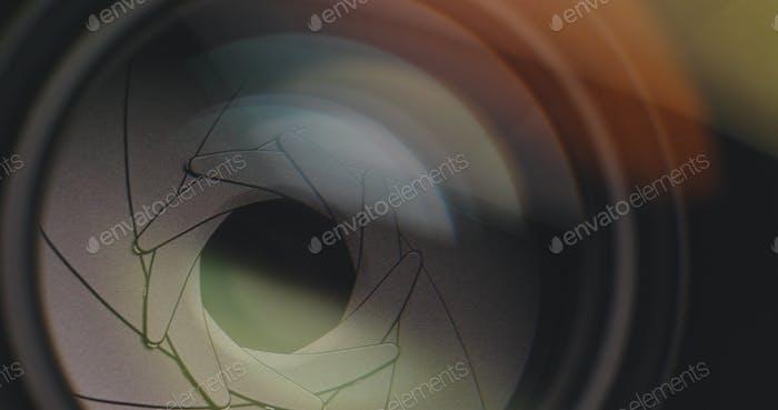 Zoom de lente de cámara