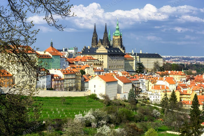 Spring time at Prague, Czech republic.