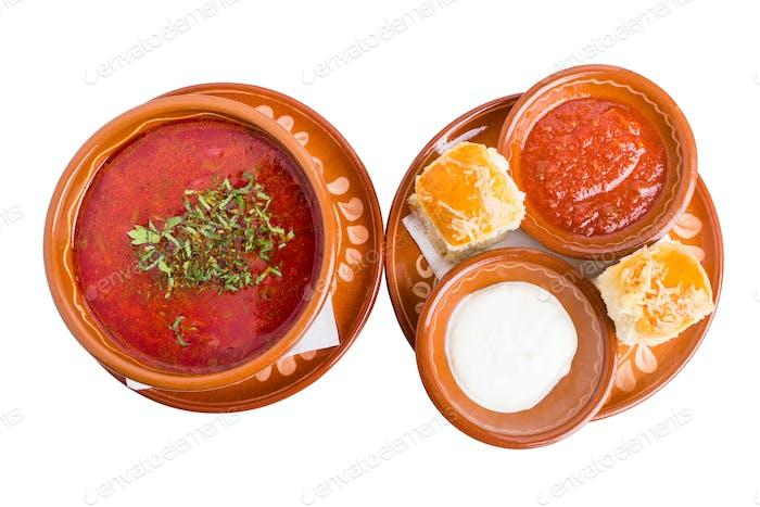 Classic ukrainian borscht.