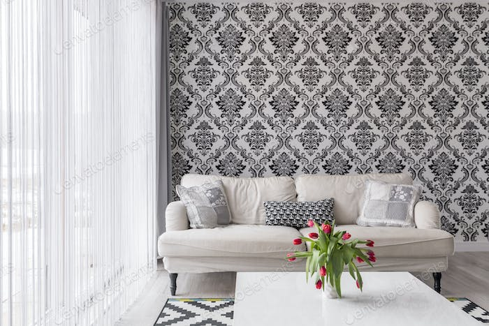 Black and white wall
