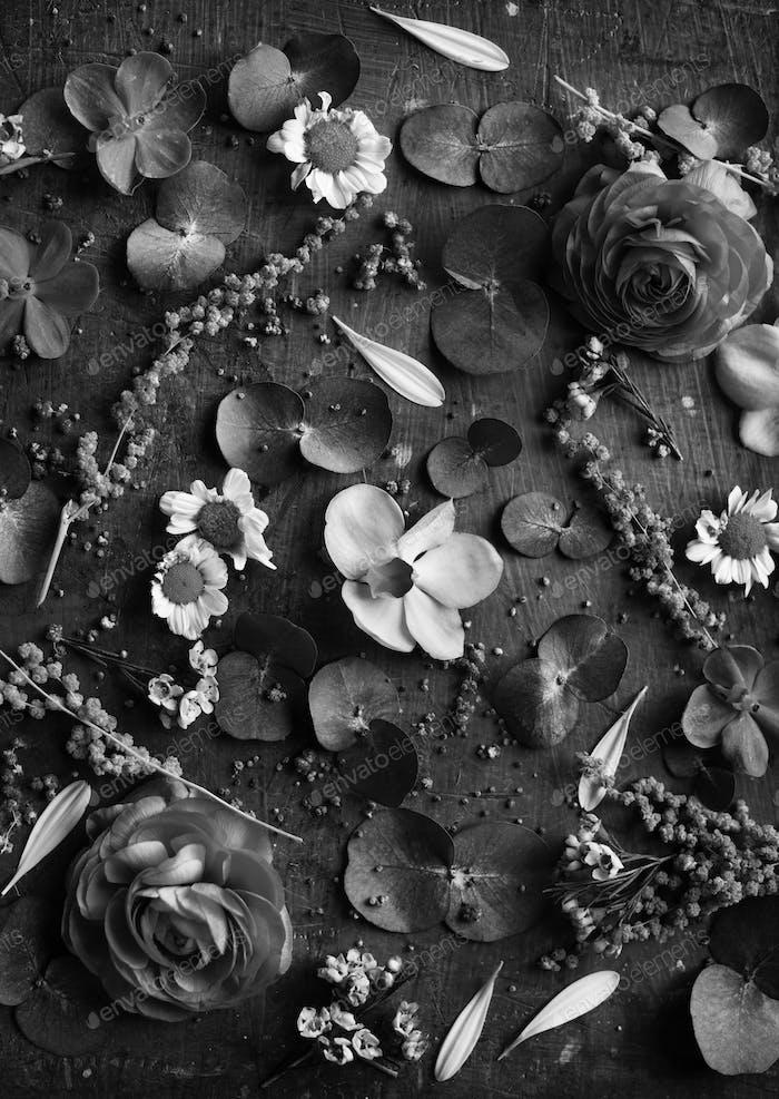 Floral leaves romance decoration freshness lush
