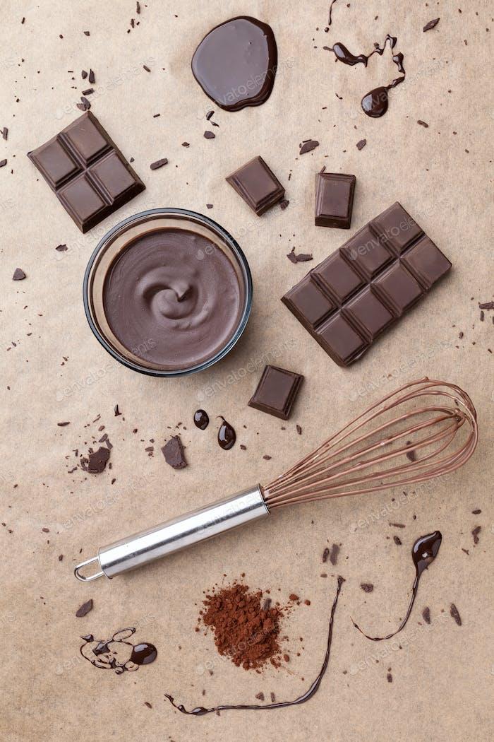 Köstliche dunkle Schokolade