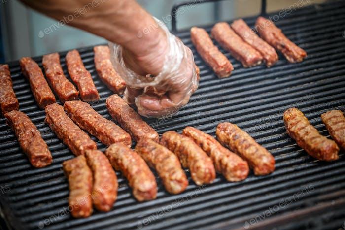 Minced pork meat rolls